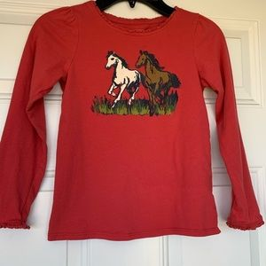 Lands' End Girl's Horse Top - size 6X